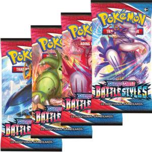 ADC HRA Karty doplňkové 10ks Pokémon SWSH05 Battle Styles Booster v sáčku