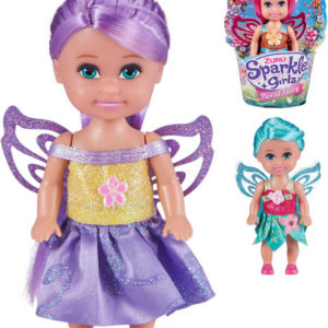 Sparkle Girlz víla 12cm panenka květinová s křídly 4 druhy v kornoutku