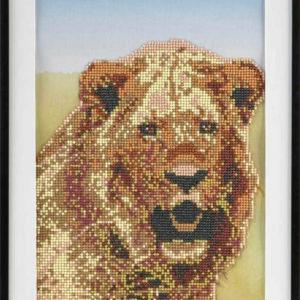 Diamond mozaika lev 30x40cm malování s kamínky kreativní set v krabici