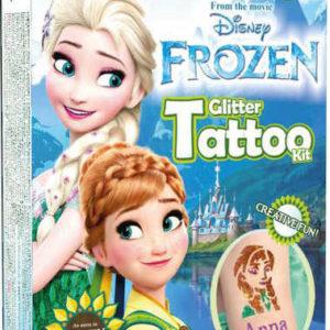 TyToo Dětské tetování Frozen Fever 12 tetovaček pro holky se třpytkami