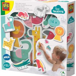 SES CREATIVE Baby vodolepky pěnová zvířátka safari set 14ks