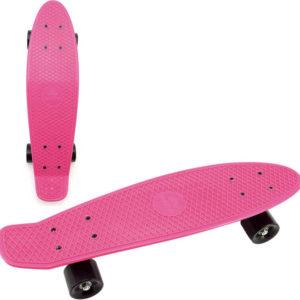Skateboard dětský pennyboard růžový 60cm kovové osy černá kola