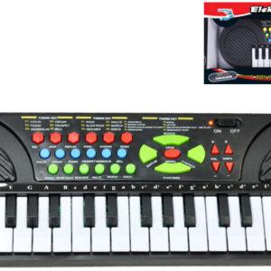 Pianko na baterie dětské 25 kláves 42x14cm Zvuk keyboard v krabici