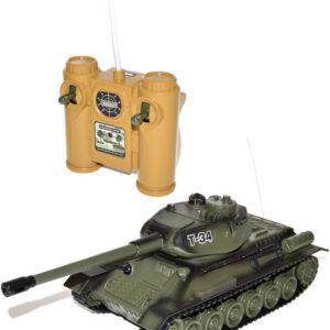 RC Tank T-34 s dělem 35cm 27MHz na vysílačku na baterie Světlo Zvuk
