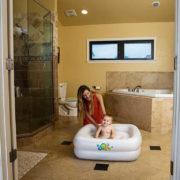 BESTWAY Baby bazének nafukovací 86x86x25cm bílý čtverec