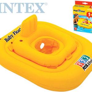 INTEX Kruh plavací s otvory *Kříž* sedátko delux pro nejmenší děti