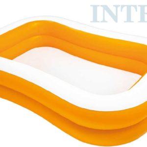 INTEX Bazén nafukovací rodinný 229x147cm oranžový na vodu 57181