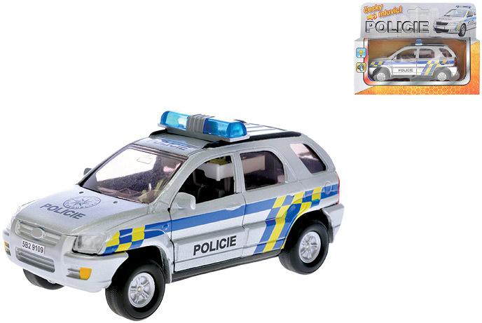 Auto Policie 13cm Zpetny Natah Pb Cz Mluvici Svetlo Zvuk Kov