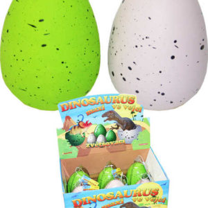 Dinosaurus ve vejci MAXI rostoucí, líhnoucí se 2 barvy Strakaté