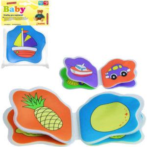 Knížka baby do vany měkká pískací s obrázky pro miminko