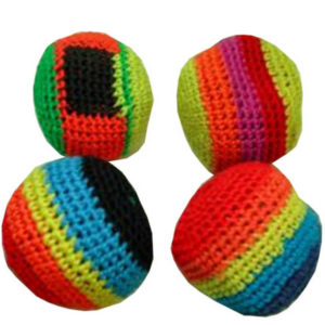 H-KISS Míček Hacky Sack 6cm barevný hakisák pletený balonek