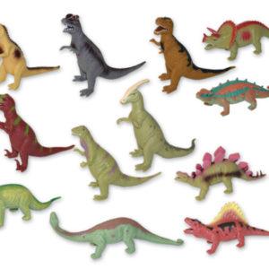 Dinosaurus měkké gumové tělo 12 druhů