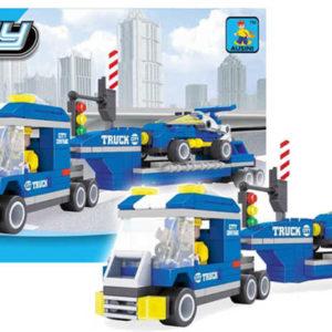 AUSINI Stavebnice kostky city truck tahač na převoz závodniček 248 dílků