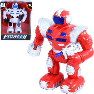 Super robot plastový se světlem a zvukem na baterie 2 barvy