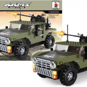 AUSINI Stavebnice ARMY Džíp vojenský velký 299 dílků + 2 figurky plast