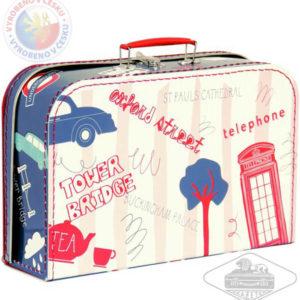 KAZETO Kufr dětský Londýn červeno-modrý velký kufřík