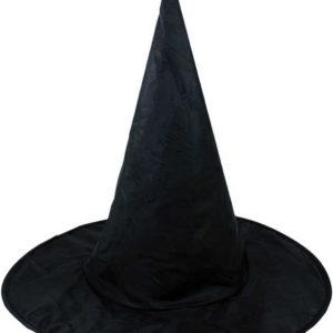 KARNEVAL Klobouk černý čaroděj dospělý špičatý KARNEVALOVÝ DOPLNĚK