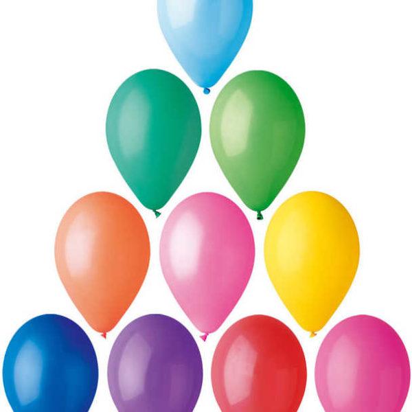 GEMAR Balónek nafukovací kulatý střední pastelové barvy 26/82cm 10 barev G90