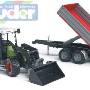 BRUDER 02112 (2112) Traktor CLAAS Nectis + čelní nakladač + sklápěcí vůz