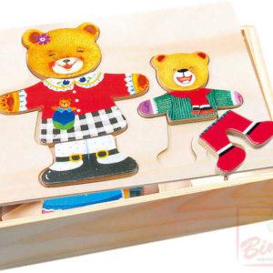 BINO DŘEVO Šatní skříň medvědice a medvídě * DŘEVĚNÉ HRAČKY *