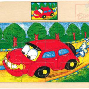 BINO DŘEVO Puzzle na desce auto TORI * DŘEVĚNÉ HRAČKY *