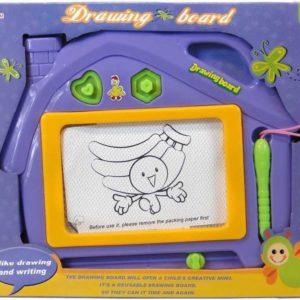 Tabulka dětská magnetická kreslicí domeček set s razítky a kouzelným perem plast
