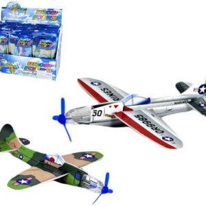 Letadlo s vrtulí dětské házecí polystyren 2 ks sada sáček