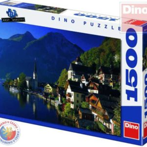 DINO Puzzle 1500 dílků Vesnička u jezera