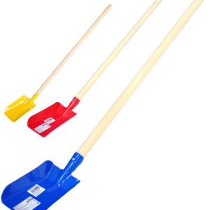 DŘEVO Lopata s násadou 80cm dětské pracovní nářadí 3 barvy