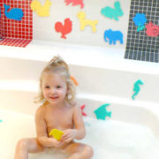 Baby vodolepky do vany set 5-6ks zvířátka / dopravní prostředky pěna v sáčku