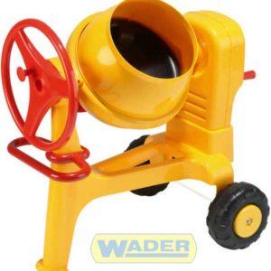 WADER Míchačka dětská plastová maxi žlutá na kolečkách