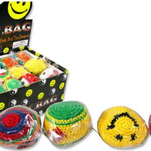 H-KISS Míček Hacky Sack barevný hakisák 6cm pletený balonek