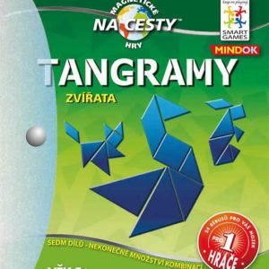 MINDOK Hra SMART Tangramy cestovní skládačka Zvířata