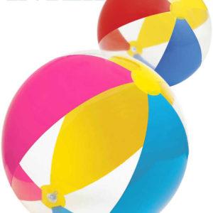 INTEX Míč dětský nafukovací 61cm Paradise plážový 2 barvy transparentní 59032