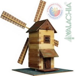 WALACHIA Větrný mlýn 33W15 dřevěná stavebnice