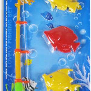 Hra rybičky 2 druhy na kartě Set Dětský rybolov