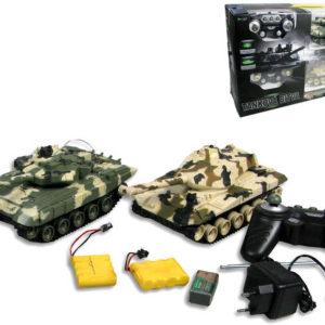 Tank RC sada 2 kusy na dálkové ovládání (na vysílačku) s doplňky 27/40 MHz