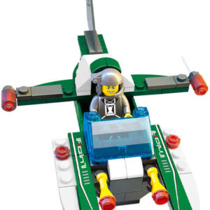 SLUBAN Stavebnice SPACE vesmírný letoun set 85 dílků + 1 figurka plast