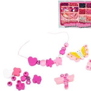 DŘEVO Korálky dětské navlékací kreativní dětská bižuterie *DŘEVĚNÉ HRAČKY*