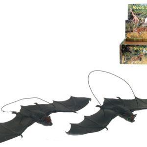 Netopýr zvířátko na gumě 30cm na zavěšení 2 druhy plast