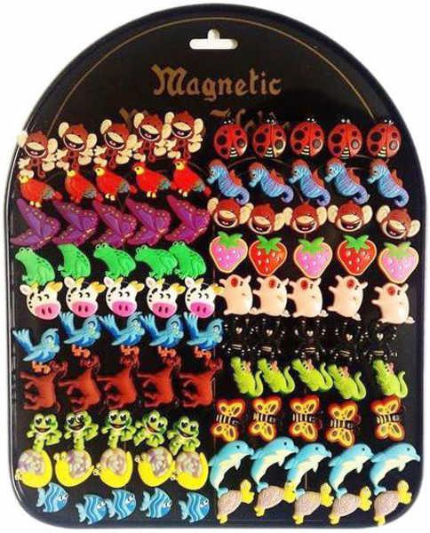 Dětské magnetky jednotlivé 20 druhů Zvířecí motivy 2 cm na magnetické tabuli