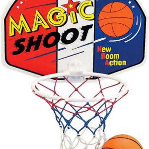 Koš na dětský basketbal Magic Shot set s míčem košíková plast