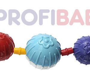 PROFIBABY Chrastítko koule zábrana na kočárek pro miminko plast