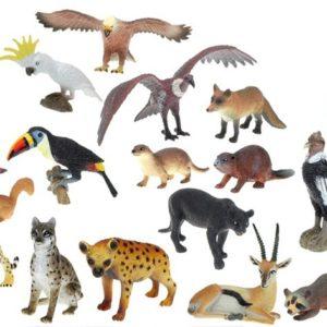 Zvířátka ZOO Zoolandia gumová menší 17 druhů 15 cm
