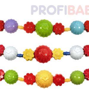PROFIBABY Zábrana koule kytičky řetěz na kočárek pro miminko různé barvy