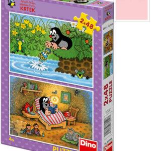 DINO Puzzle Krtek a perla (Krteček) 48 dílků 26x18cm v krabici