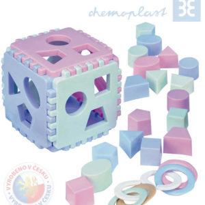 CHEMOPLAST Kostka Baby MIMI na vkládání tvarů set s kousátky