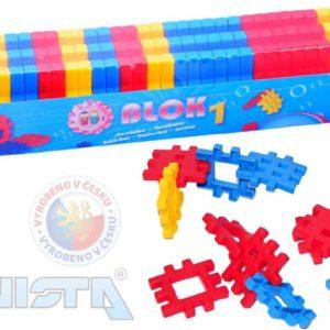 VISTA BLOK 1 Plastová STAVEBNICE v krabičce 40 dílků