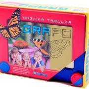 VISTA Magická mazací tabulka GRAFO s kreslícími kolečky