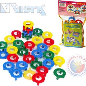 VISTA Stavebnice plastová DISCO set 32 kroužků v sáčku